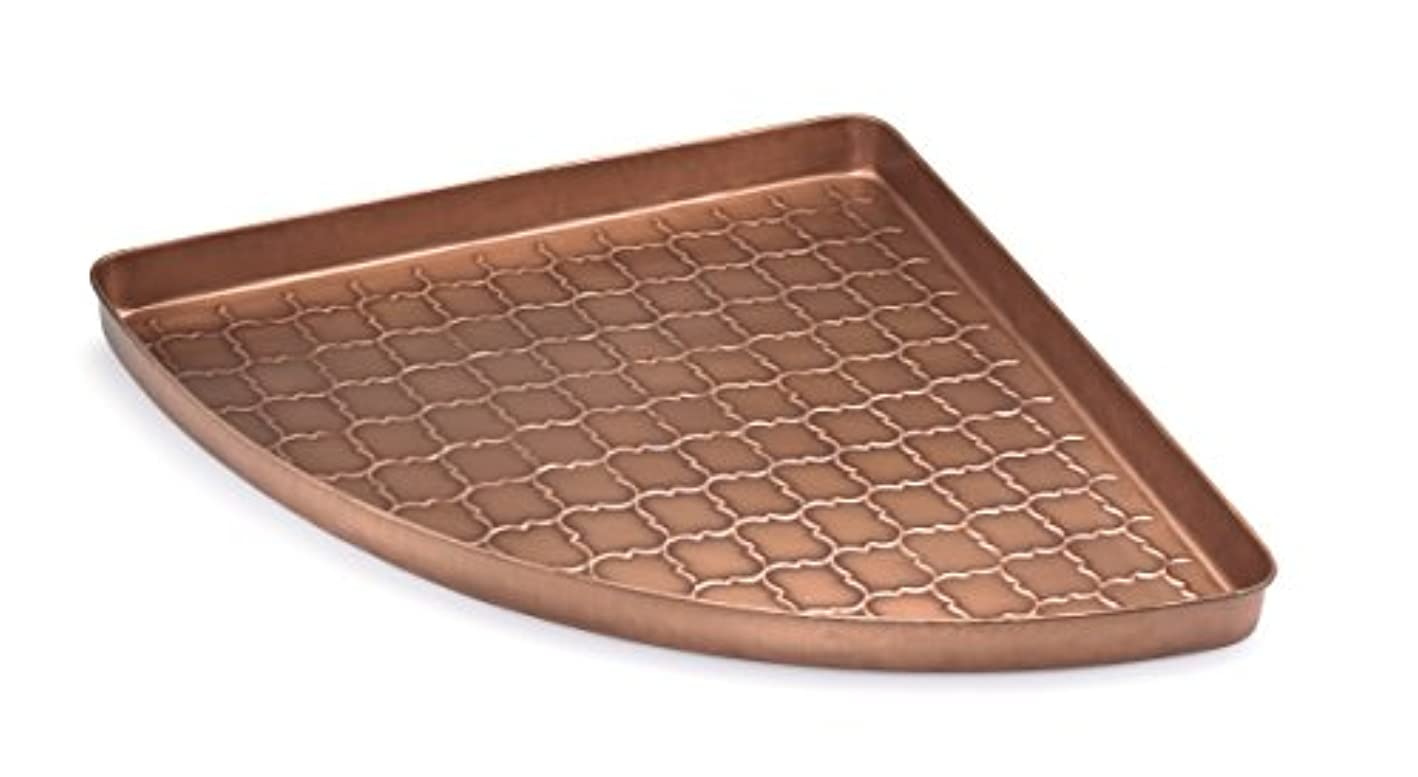 Good Directions Barcelona Multi-Purpose Serving Tray, Boot Tray / Shoe Tray - Copper Finish (22 inch) with Handles - Food, Drinks, Plants, Pet Bowl, Garage, Entryway, Entrance, Foyer