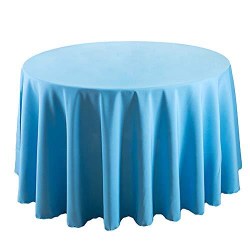 WanYangg Schnelltrocknend Runde Tischdecke langlebig Einfarbig Glatt Tischtuch - pflegeleicht Edler Glanzeffekt - Hochzeit und Partys, messestände