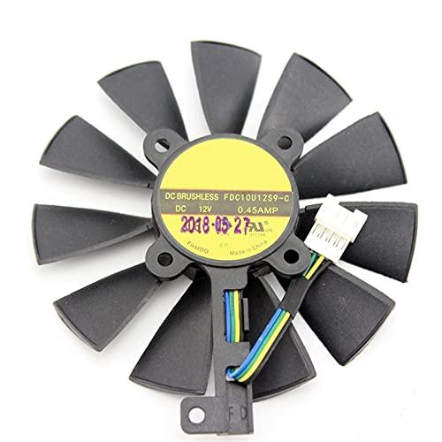 87mm FDC10U12S9-C FDC10H12S9-C para ASUS GTX 980 TI R9 390X 390 GTX 1060 1070 1080 TI RX 480 RX480 Tarjeta de gráficos Ventilador de refrigeración (Blade Color : 4PIN)