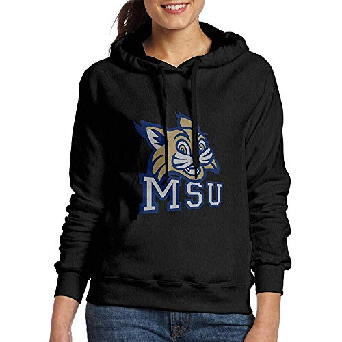 Women's Best Montana State University Drawstring Hoodie Black