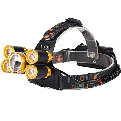 EFGS Linterna Frontal LED, súper Brillante, CREE LED, Resistente al Agua, Ideal para Correr, Camping, Senderismo y Pesca