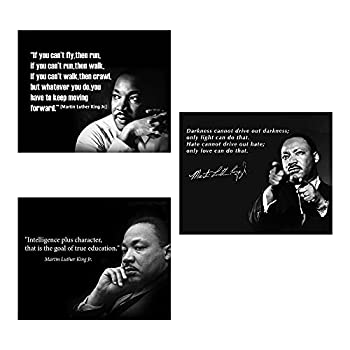 Martin Luther King Jr.- Quotes Wall Art Trio Set- 8 x 10 s   3  Vintage Art Wall Prints- Ready to Frame Inspirational Home Décor-Office Décor MLK Jr Famous Quotes- Love-Character-Keep Moving.
