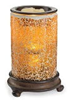 CANDLE WARMERS ETC. Mosaic Glass Illumination Fragrance Warmer- Light-Up Warmer for Warming Scented Candle Wax Melts and Tarts or Essential Oils to Freshen Room, Crackled Amber (B00SPLNOAE) | Amazon price tracker / tracking, Amazon price history charts, Amazon price watches, Amazon price drop alerts