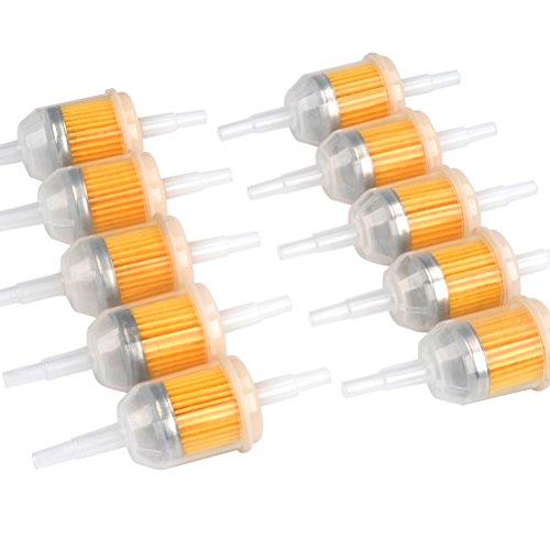 FOCCTS 10 Stück Kraftstofffilter Gasöl Flüssigkeitsfilter Benzinfilter für 6mm,8mm Motorrädern Benzinmotoren,Maschinen zum Filtern von Benzin,Modell: 131-261-275