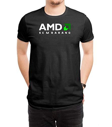 COOLCHINA Men's/Hombre AMD Logo Short-Sleeve Neck T-Shirts/Camiseta Medium