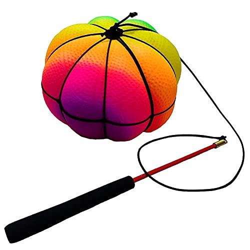 CKKHEW Pelota de Ejercicios Que rebota, Mejora el Equilibrio, Antideslizante, Lanzamiento y caída de la Pelota Que rebota(1 Ball)