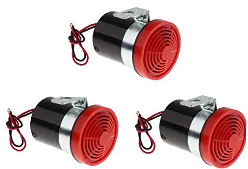 Rrunzfon 3X Bocina De Marcha Atrás 12 24v 105db De Marcha Atrás del Coche Alarma De Advertencia Bocina Sirena Beeper Beeper Inversa Sirena del Zumbador Alerta De Los Vehículos Autos Camiones Rojo