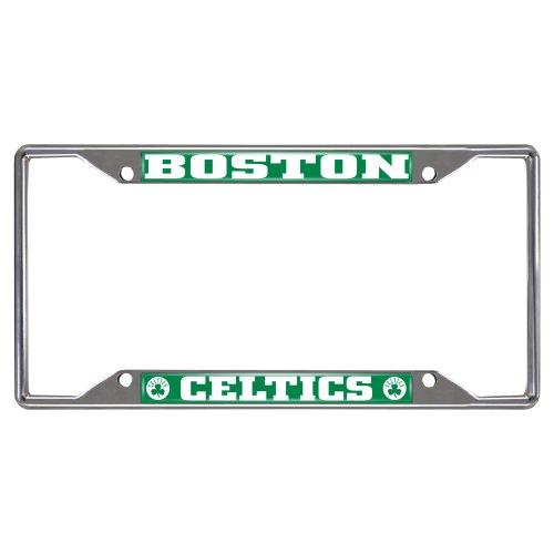 FANMATS 14839 NBA Boston Celtics Chrome License Plate Frame,6.25'x12.25'