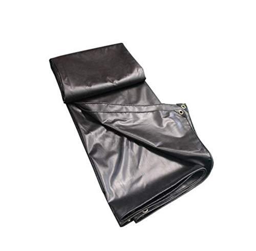 DJ regenbestendige doek, waterdicht zonwering zeildoek vrachtwagenzeildoek zwarte oliedoek regendoek doek poncho-schaduwdoek (grootte: 3x4M)
