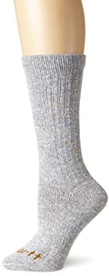 Carhartt Women's Rainbow Twist Crew Sock, Blue, Shoe Size: 5.5-11.5