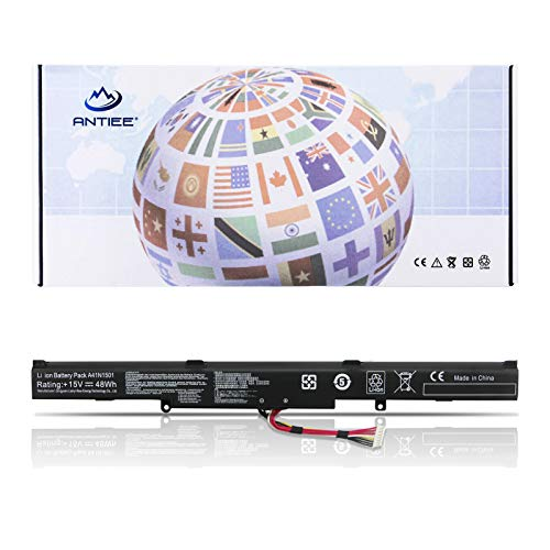 ANTIEE A41N1501 Laptop Batteria per ASUS ROG GL752VW G752VW N552V N552VX GL752 N552 N752 Series Notebook 48WH 15V 3200mAh