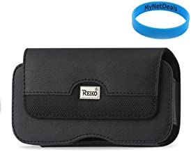 Horizontal Leather Case Pouch for Samsung Galaxy Ace Style/ Trend Plus/ Nokia Lumia 520/ Microsoft Lumia 430/ Samsung Z1/ Samsung V/ Ace NXT / Motorola Luge/ DROID Mini/ Alcatel One Touch M'Pop/ Samsung Galaxy Exhilarate/ with Magnetic closure with belt clip and belt loops (Plus Size will Fit w/ Otterbox Commuter on) + Wristband