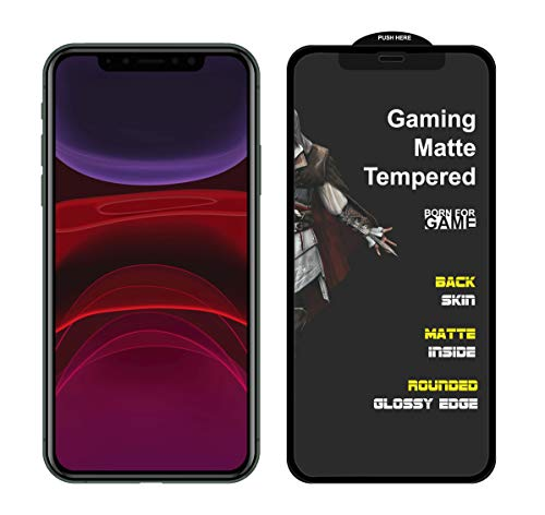 MEDULLA Edge to Edge (Black) Hybrid Matte Tempered Glass Gaming Screen Protector for Apple iPhone 11 Pro Max