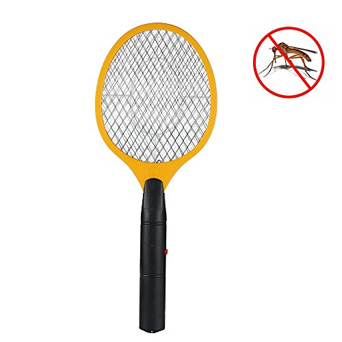 Littleduckling Elektrische Bug Zapper Elektronische Fly Swatter Racket Handheld Mosquito Insect Wasp Killer voor binnen en buiten gebruik Batterij Bediend