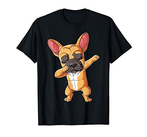 Dabbing French Bulldog T shirt Fawn Frenchie Dog Funny Dab T-Shirt
