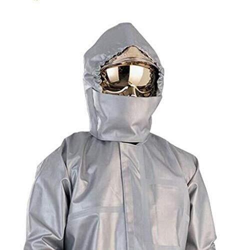 CIGONG Indumenti di Protezione da Agenti Chimici, Tute di Protezione Antincendio, Divisa in Tessuto Alluminizzato Ignifugo (Abbigliamento/Pantaloni/Foulard) Tuta Protettiva