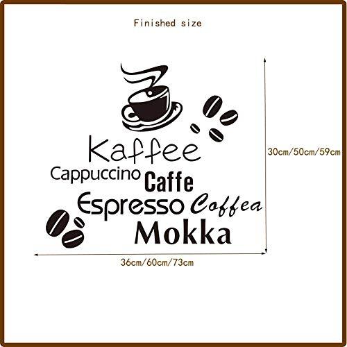 nobrand Deutsch Englisch Italienisch Kaffeebohne Mokka Vinyl Wandaufkleber Wandbild Coffee Shop Wandtattoo Künstler Residenz Dekoration