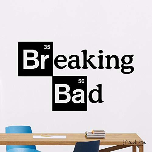 guijiumai Breaking Bad Logo Wandtattoo s Kino Vinyl Aufkleber Kunst Dekor Wandbild Abnehmbare Kunst Wandbild Home Fenster Dekoration42X70CM
