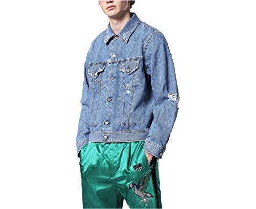 Diesel D Robyn - Jeans da Uomo in Denim, in Cotone Invecchiato, con Tasche, Colore: Blu Blu. M