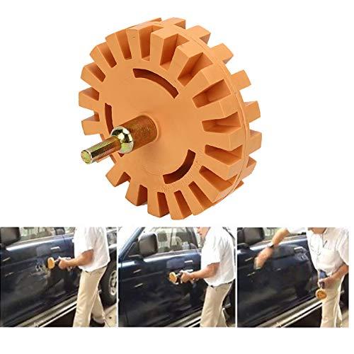 Removedor de pegamento neumático de goma de la rueda del borrador Rueda limpiadora de 4 pulgadas para quitar