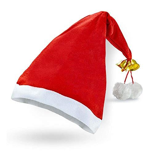 Cappello Babbo Natale in Velluto, Extra Lungo