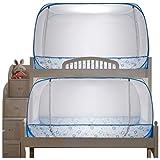 MFB Pop-Up-Yurt-Moskitonetz x2 für Etagenbett, Keine Installation erforderlich, verschlüsselter Moskito- und Insektenschutz, mehr Platz an der Oberseite, Blockieren von...