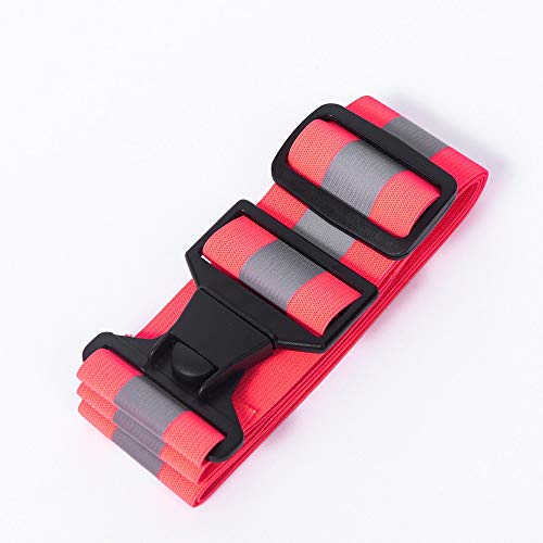 AYKRM 5 Farben Mehrere Farben Laufweste - Reflektierende Weste für Joggen, Reflektor gürtel pink Fahrrad | Atmungsaktiv & Leicht | Warnweste für Damen Herren (Pink, S-XXL)