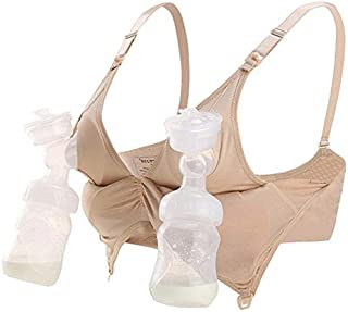 Hands-Free 2-in-1 Breast Pump Maternity Bra for Nursing and Breastfeeding Seamless Ultra-comfortable compatible with all B...