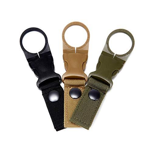 Jtxqy - 3 ganchos para botella de agua con hebilla de gancho para mochila y mosquetón para viajes de camping