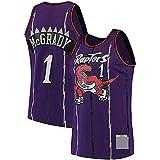 DIMOCHEN Movement Ropa Jerseys de Baloncesto para Hombres, NBA Toronto Raptors 1# Tracy McGrady, cómodo, Camiseta Uniformes Deportivos Tops (Size:S,Color:G1)