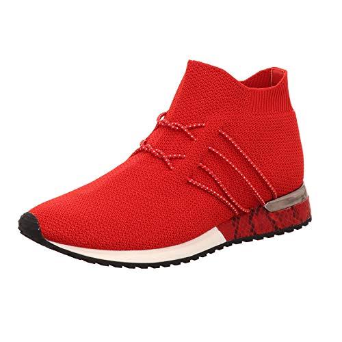 La Strada Damen Slipper Knöchelhoher Sneaker aus Strick 1715464/4530 rot 787174