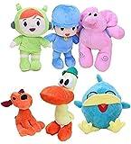 N-R Stuffed Toy 6pcs/Set Pocoyo Plush Toys Pocoyo Elly Pato Nina Sleepy Bird Stuffed Animals Soft Dolls Pocoyo Friends Christmas for Kids