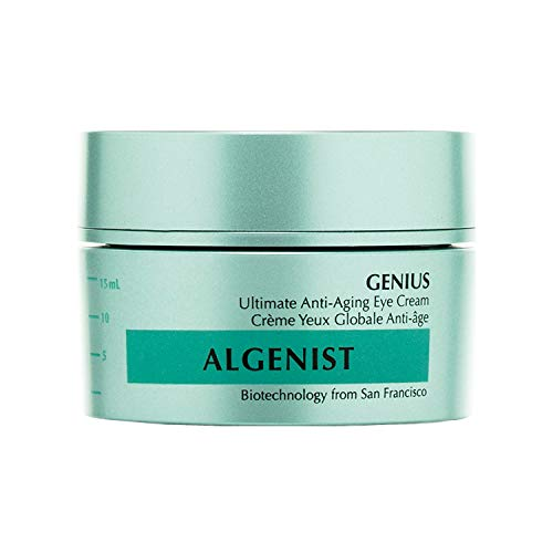 Algenist GENIUS Ultimate Anti-Aging Eye Cream - Vegan Firming & Smoothing Under Eye Cream with Microalgae Oil & Collagen - Non-Comedogenic & Hypoallergenic Skincare (15ml / 0.5oz)