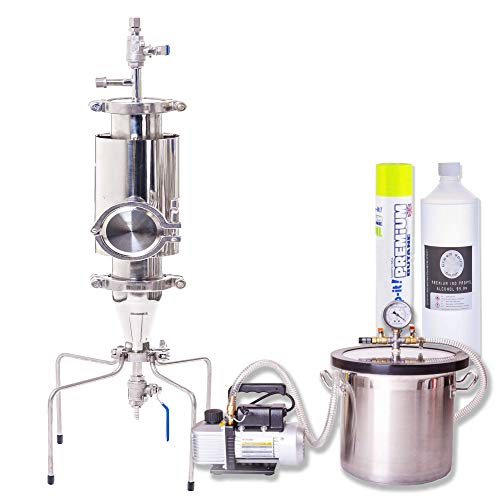 Apollo 250 Stainless Steel Extraction Open Blast Tube - Heavy Duty Pressurised Closed Column Extractor for Essential Oils