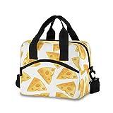 Bolsa de almuerzo para mujeres y hombres – Bolsa de queso aislada Vector con correa de hombro desmontable y asa de transporte, bolsa enfriadora reutilizable para el trabajo, escuela, picnic