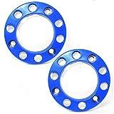 Promo Link, 2 copribulloni per autocarri, universali, copricerchi per rimorchio, lucidato a specchio, 22,5 pollici, plastica blu
