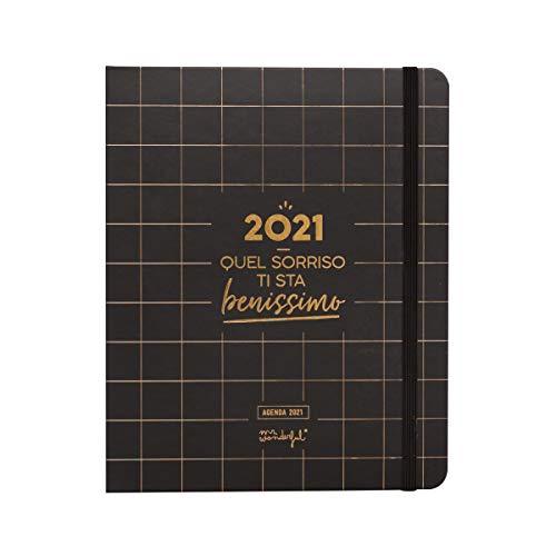 Mr. Wonderful Agenda 2021 Settimanale - 2021, quel sorriso ti sta benissimo - 18.5 x 3 cm