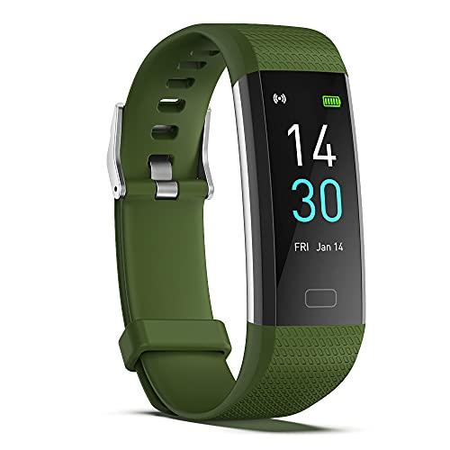 Reloj Inteligente S5 para Hombres Y Mujeres Contador de Calorías del Podómetro del Monitor del Ritmo Cardíaco Reloj Deportivo Bluetooth Impermeable IP68 con Pantalla HD de 0 96