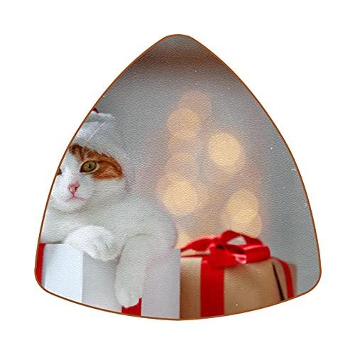 Bennigiry Lovely Cat With Red Hat - Posavasos resistentes al calor para taza de café y té, juego de 6