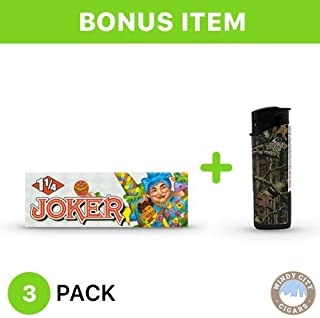 Joker Rolling Papers - 1 1/4 (3) with LED Lighter