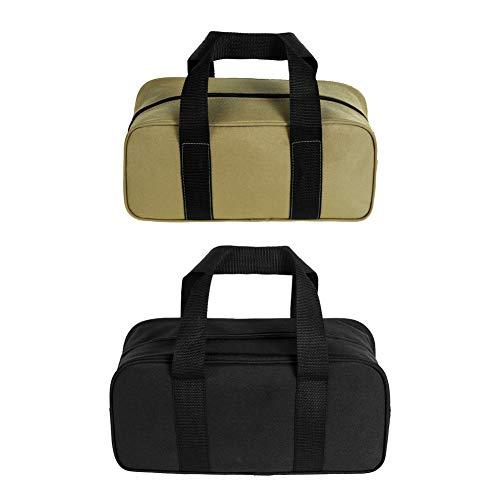 Bolsas de herramientas 2 piezas bolsa de herramientas organizador de boca abierta ancha (A, negro y amarillo)