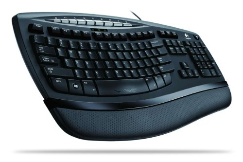 Logitech Comfort Wave 450, UK - Teclado (UK, USB, Negro, USB, Windows XP/Vista)