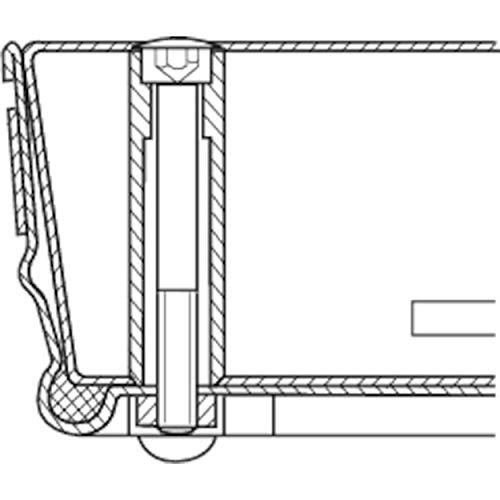 ZARGES Schachtabdeckung Stahl verzinkt 635 x 635 mm