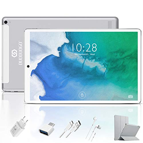 Tablet 10.1 inch New Android 9.0 Quad Core Tablet with 4GB RAM 64GB Storage,1280 x800 IPS HD Touchscreen Dual Camera-Silver