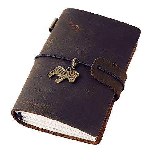 Chengxin Notebooks Draagbare Notebook 192 Pagina's A7 Lederen Notitieboekje Lederen Kan Losbladige Notitieblok Kleine Dagboek Papier Producten
