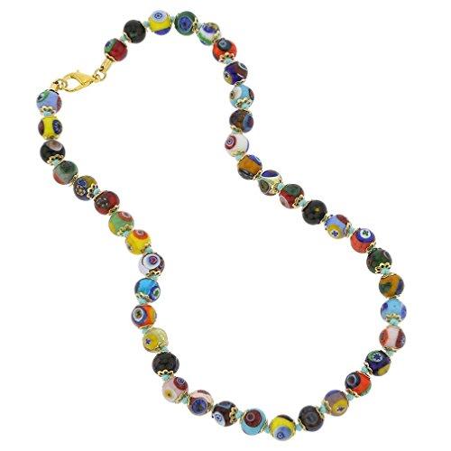 GlassOfVenice Murano Mosaik Halskette - Mehrfarbig