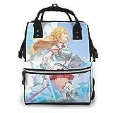 Sword Art Online Yuuki Asuna momia mochila de gran capacidad pañal Tote bolsa de pañales Baby Care multifunción impermeable viaje