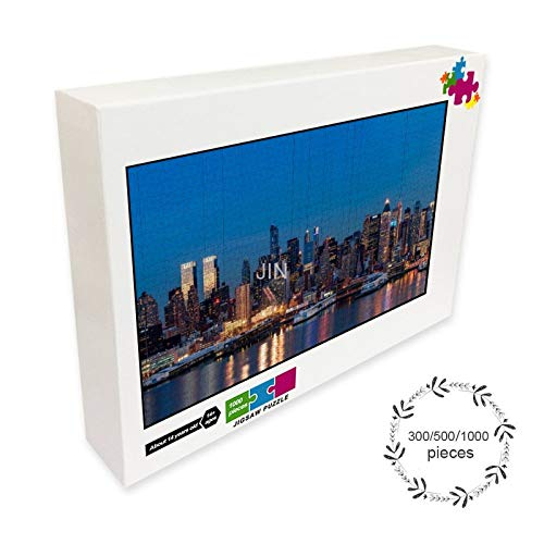 New York City Night Jigsaw puzzle game for children and adults 300/500/1000 pieces of interactive decompression puzzle family entertainment education game
