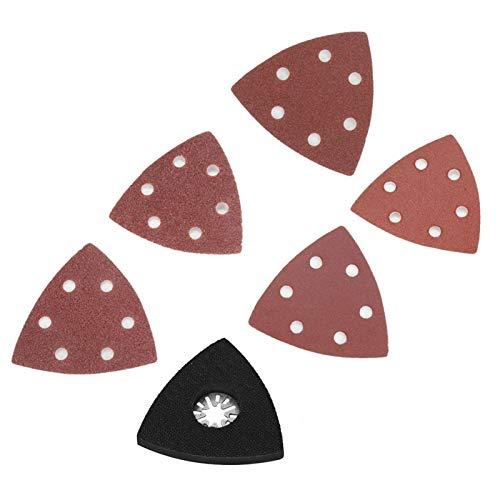 Almohadillas de pulido Hojas de lijado de herramientas múltiples Almohadillas de lijado de alta eficiencia Lijado de 101 piezas de alta precisión para lijadora Papel de lija triangular