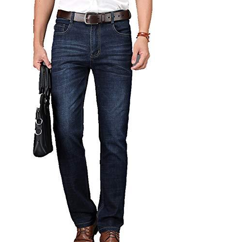 N\P Negocios Casual Pantalones De Mezclilla De Los Hombres De Corte Recto Ligero Tramo Pantalones De Gran Tamaño 29-42 4 Color